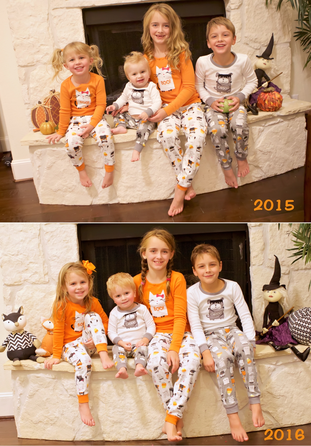 halloween jammies then and now 2016