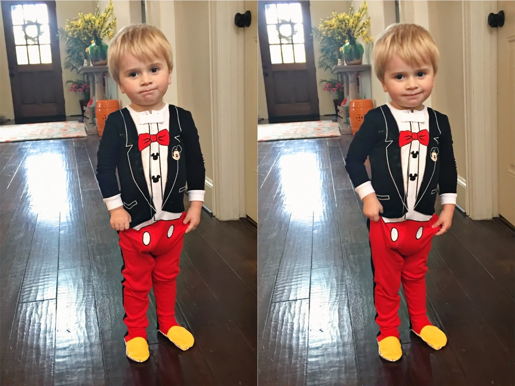Keaton Mickey Mouse PJs Jan 2017